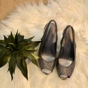 Just Enough Sparkle Lulu Townsend Silver Heels New